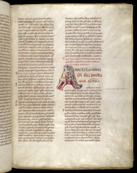 Historiated Initial, In Pseudo-Isidore's 'Papal Decrees' f.28r